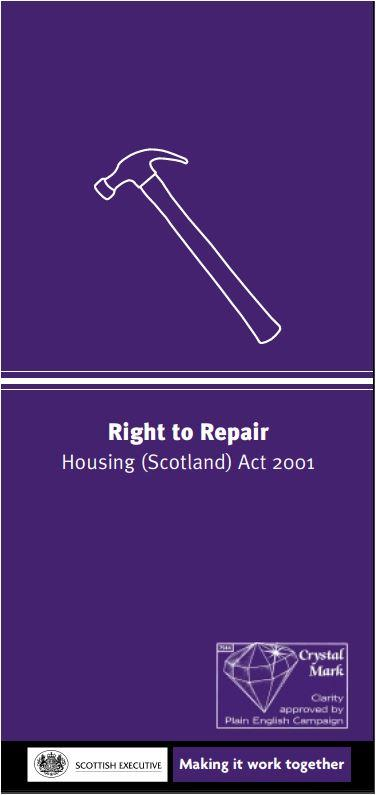 front page of right to repair leaflet